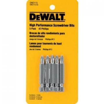 "DeWalt #2 Phillips Power Bit, 2"", 5-Pk."