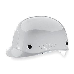 MSA White Polyethylene Bump Cap, Perforated Sides, Fits Hat Size: 6-1/2 to 8