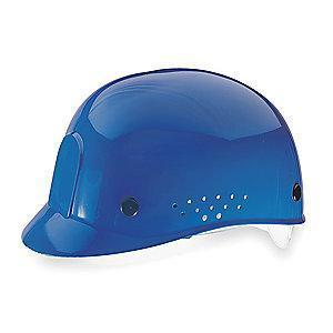 MSA Blue Polyethylene Bump Cap, Perforated Sides, Fits Hat Size: 6-1/2 to 8