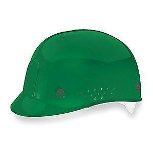MSA Green Polyethylene Bump Cap, Perforated Sides, Fits Hat Size: 6-1/2 to 8