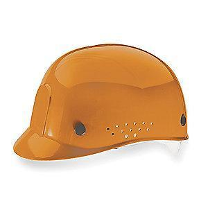 MSA Orange Polyethylene Bump Cap, Perforated Sides, Fits Hat Size: 6-1/2 to 8