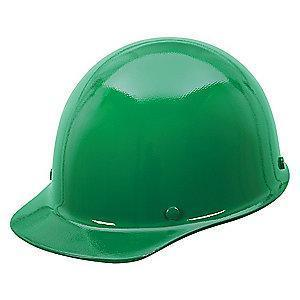 MSA Green Phenolic Skullgard, Front Brim, Fits Hat Size: 6-1/2 to 8