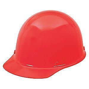 MSA Red Phenolic Skullgard, Front Brim, Fits Hat Size: 6-1/2 to 8