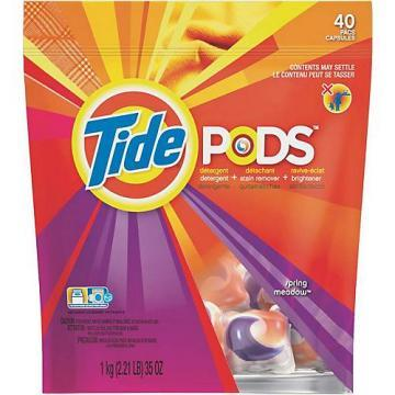 Procter & Gamble Tide Laundry Detergent, Pod, Spring Meadow, 35-Ct.