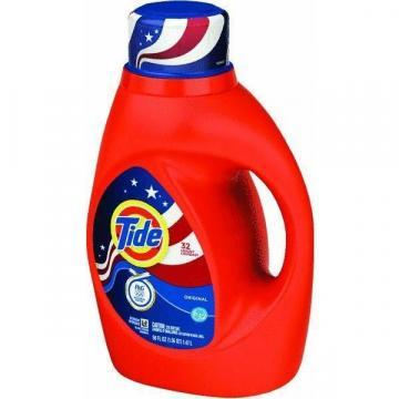 Procter & Gamble Tide HE Detergent, Liquid, Regular Scent, 50-oz.