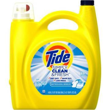 Tide Simply Clean & Fresh Laundry Detergent, Breeze Scent