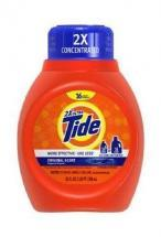Procter & Gamble Tide 2X Ultra Liquid Detergent, Regular Scent, 25-oz.