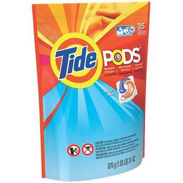 Procter & Gamble Tide Laundry Pods, Ocean Mist, 35-Ct.