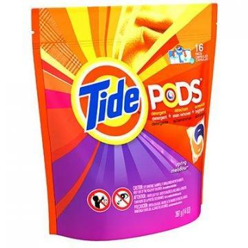 P&G Tide Laundry Detergent Pods, Spring Meadow Scent, 16-Ct.