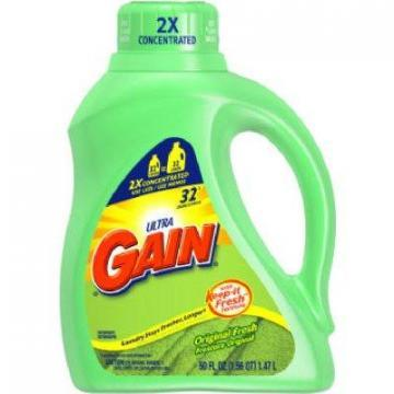 Gain Liquid Laundry Detergent, Original Scent, 50-oz.