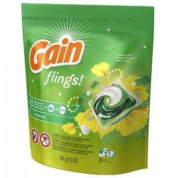 Gain Flings Detergent Plus Oxi Boost, Original Scent, 16-Ct.