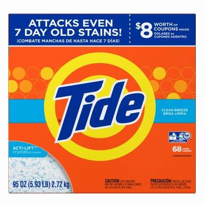 Procter & Gamble Tide Laundry Detergent Powder, Regular Scent,  68 Loads, 95oz