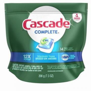 Procter & Gamble Cascade Complete Dishwasher Detergent Action Pacs, 14-Ct.