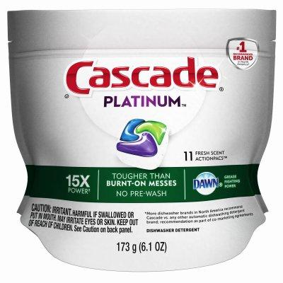 Procter & Gamble Cascade Platinum Dishwasher Action Pacs, Fresh Scent, 11-Ct.