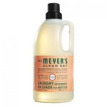 SC Johnson Mrs. Meyer's Clean Day Laundry Detergent, Geranium Scent, 64-oz.