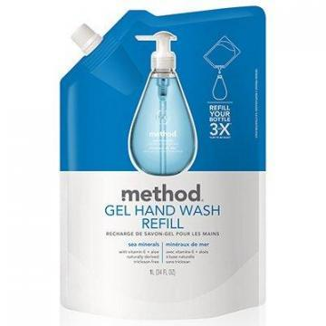 Method Gel Hand Soap Refill, Sea Minerals, 34-oz.