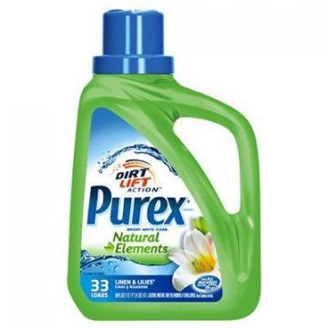 Dial Purex Natural Elements Laundry Detergent, Linen & Lilies Scent, 500-oz.