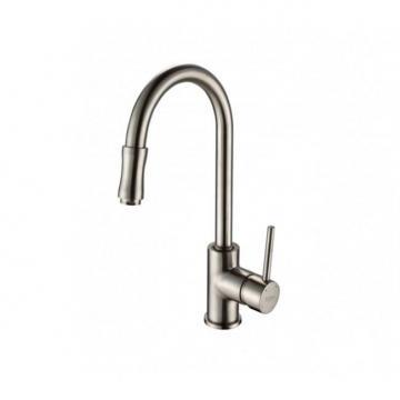 Kraus Single Lever Pull Out Kitchen Faucet Satin Nickel