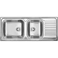 Blanco 1 1/2 Bowl Drop-In Right-Hand Drainboard Stainless Steel Kitchen Sink
