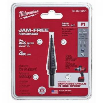 Milwaukee #1 Step Drill Bit, 1/8 - 1/2""
