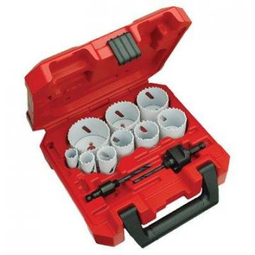 Milwaukee Ice-Hardened Hole Saw Kit, 13-Piece