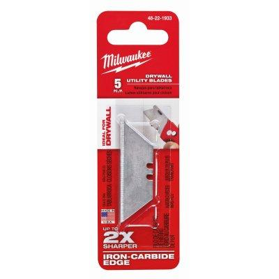 Milwaukee Drywall Utility Blades, 5-Pk.