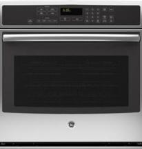 "GE 5.0 cu. ft. 30"" Electric Convection Self-Cleaning Single Wall Oven in Stainless Steel"