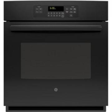 "GE 5.0 cu. ft. 30"" Electric Self-Cleaning Single Wall Oven in Black"