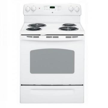 GE 5.0 cu. ft. Electric Free-Standing Self-Cleaning Range in White