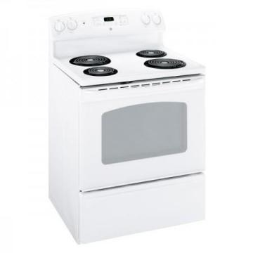 GE 5.0 cu. ft. Electric Standard Clean Range in White