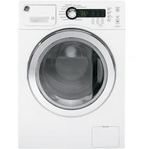 GE 2.6. cu. ft. capacity Front Load Washer in White On White