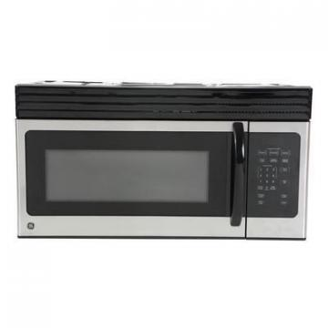 GE Cafe 1.6 cu. ft. Over-The-Range Microwave Oven in Black on Stainless Steel