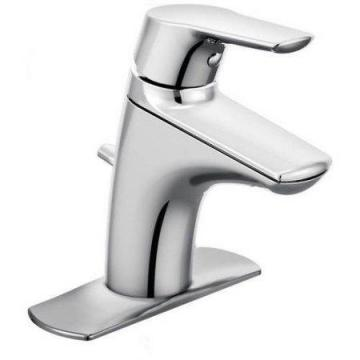 Moen Method Single-Handle Low-Arc Bathroom Faucet in Chrome Finish