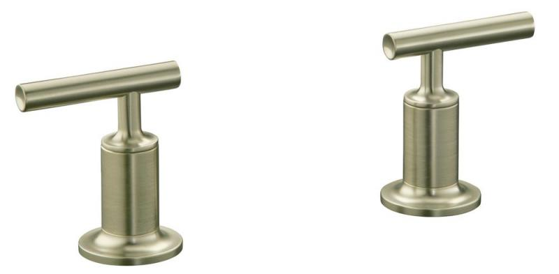 Kohler Purist Deck or Wall-Mount High-Flow Bathroom Faucet Trim in Vibrant Brushed Nickel Finish