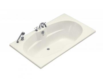 Kohler 6' Drop-in or Alcove Bathtub in Biscuit