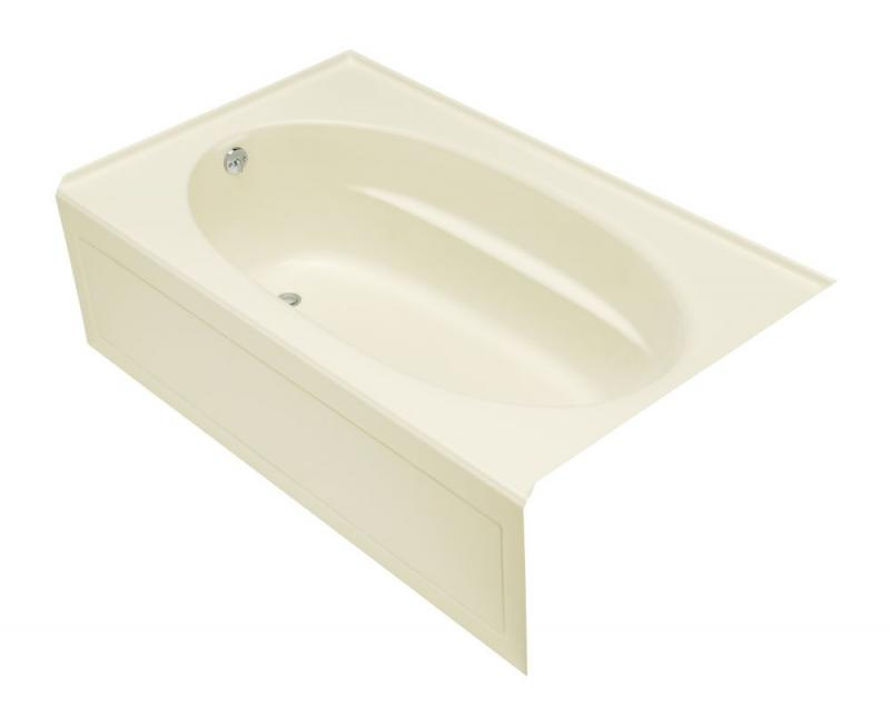 Kohler Windward 5' Oval Drop-in Non Whirlpool Bathtub in Biscuit
