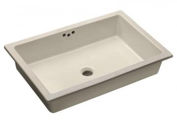 Kohler Kathryn Undercounter Bathroom Sink with Glazed Underside in Biscuit