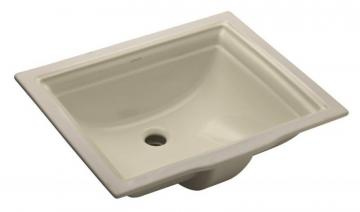 "Kohler Memoirs 20 11/16"" L x 17 5/16"" H Undercounter Bathroom Sink in Almond"