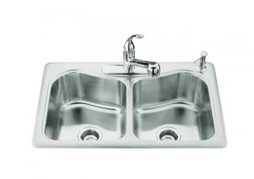 Kohler Staccato Double-Basin Self-Rimming Kitchen Sink
