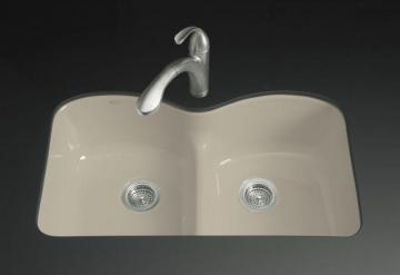 Kohler Langlade Smart Divide Undercounter Kitchen Sink in Sandbar