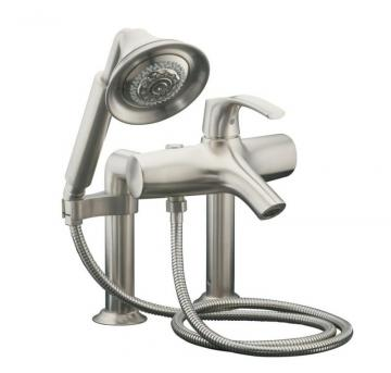 Kohler Symbol Bath Faucet with Hand Shower in Vibrant Brushed Nickel
