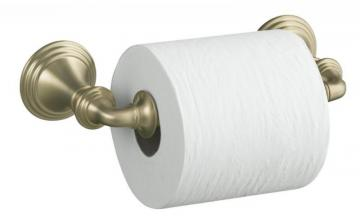 Kohler Devonshire Toilet Tissue Holder, Double Post in Vibrant Brushed Bronze