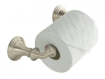 Kohler Devonshire Toilet Tissue Holder, Double Post in Vibrant Brushed Nickel