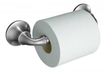 Kohler Forté Sculpted Toilet Tissue Holder in Brushed Chrome