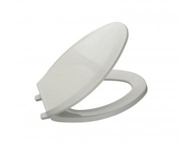 Kohler Lustra Elongated Closed Front Toilet Seat in Ice Grey