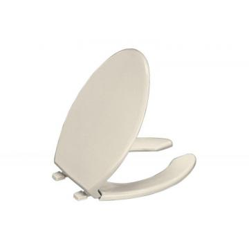 Kohler Lustra Elongated Open Front Toilet Seat in Almond