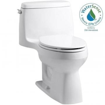 Kohler Santa Rosa 1-piece 1.28 GPF Single Flush Elongated Bowl Toilet in White