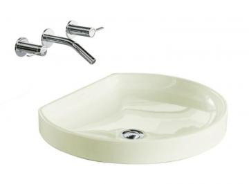 Kohler Watercove Wading Pool Vessel Sink in Biscuit
