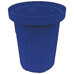 "Tough Guy 55 gal. Round Open Top Utility Food-Grade Waste Container, 36-3/4""H, Blue"