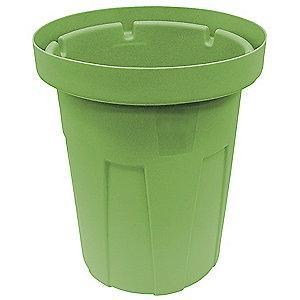 "Tough Guy 25 gal. Round Open Top Utility Food-Grade Waste Container, 22-1/4""H, Green"
